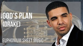 EASY Euphonium Sheet Music: How to play God's Plan by Drake