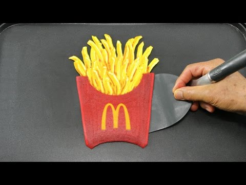 Making McDonald's French Fries Pancake