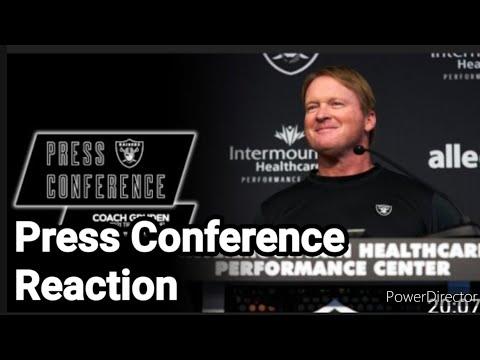 Las Vegas Raiders: Training Camp Press Conference Reaction By Joseph Armendariz - Vlog