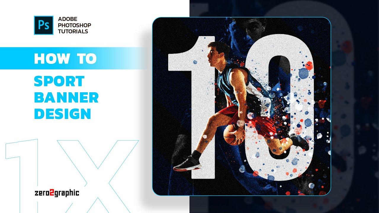 How to Sport Banner Design in Adobe Photoshop for Beginner