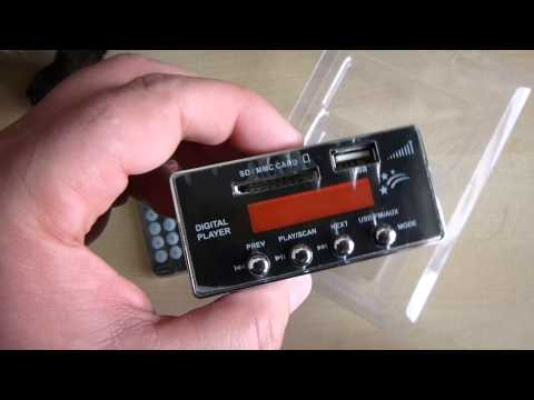Kinter USB SD FM Digital Player - Unboxing