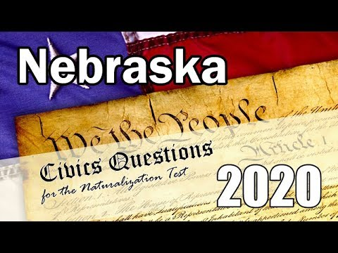 [Nebraska version] 2020 Civics Questions for the Naturalization Test