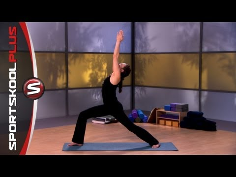 How to do a Warrior 1 Yoga Pose with Nancy Goodstein