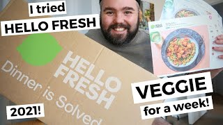 I tried HELLO FRESH VEGGIE for a week! UK 2021 honest, meat-free review 🥬🍅