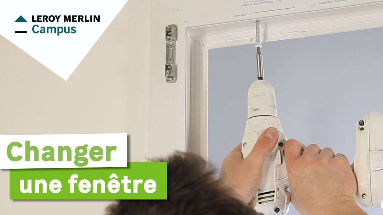 Comment changer une fen tre leroy merlin youtube - Pose fenetre pvc en applique renovation ...