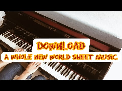 A Whole New World piano sheet music By Alan Menken in PDF and MP3
