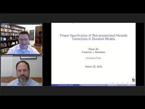 """Frederick Boehmke, """"Proper Specification of Non-proportional Hazards Corrections in Duration Models"""""""