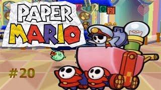 Pelotón Shy Guy y su tanque/Paper Mario capítulo20