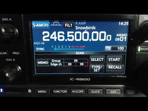 Snowbirds Cockpit radio at the 2017 Toronto Airshow on Icom IC-R8600