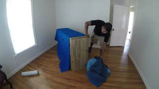 How to wrap a dresser by your self and move it | Professional Movers in Denton,TX