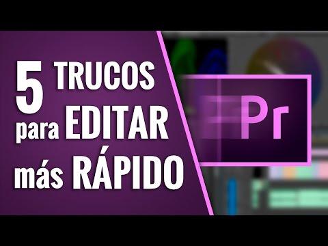 5 TRUCOS para EDITAR más RÁPIDO (Premiere CC)
