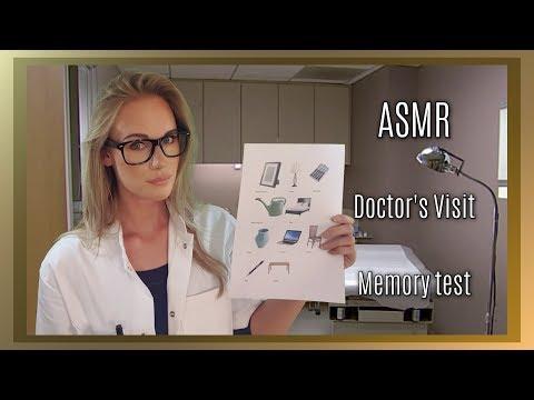 ASMR Doctor's Visit Memory test (soft spoken/whisper/personal attention)