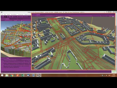 Procedural terrain generation in Unity3D based on OpenStreetMap data