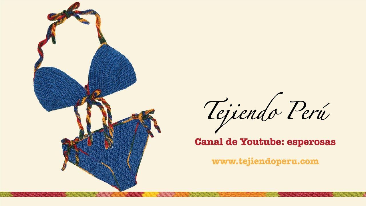 Cómo tejer un bikini a crochet - YouTube