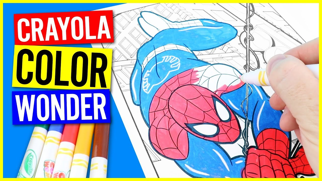 Crayola Colour Wonder Marvel Ultimate Spider-Man - Mess Free ...