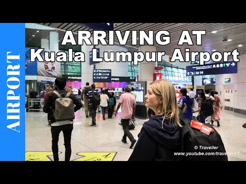 ARRIVING AT KUALA LUMPUR Airport in Malaysia - How to Arrival Procedure at KLIA - Travel video