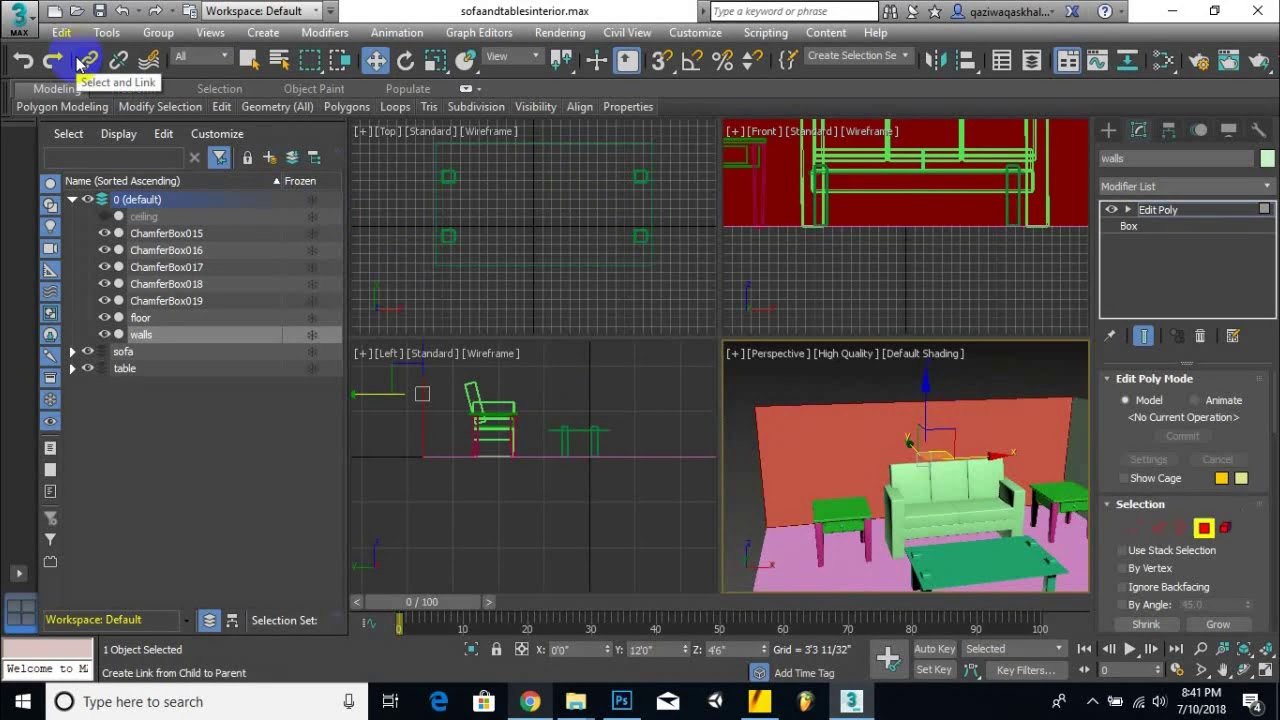 Part 06  - How To Create interiors sofa and tables in max | become max modeler