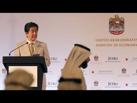 Japan's Abe arrives in UAE to boost ties