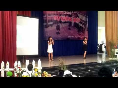 Greatest love of all- whitney houston cover by Tí Nị and Neko Chan.mp4