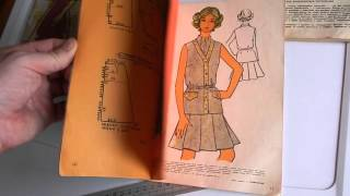 Обзор старых книжек и журналов по шитью 1960-х годов.