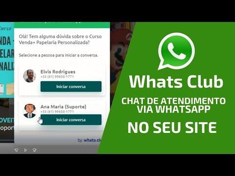 [WHATS CLUB] WHATSAPP CHAT PARA ATENDIMENTO NO SITE OU PÁGINA DE VENDAS | ELVIS RODRIGUES | #033