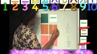 "Japanese, ""Same as"" Fractions , Mortensen Math, Kids Montessori K-12 Pre-school video"