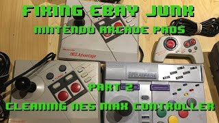 Fixing eBay Junk - Nintendo Arcade Pads Part 2 - Cleaning NES Max Controller