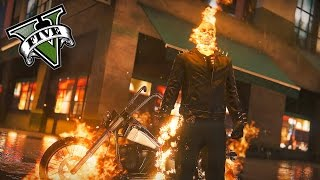GTA 5 PC - Ghost Rider Mod ! Time To Burn Souls ! (Ghost Rider Mod Gameplay)