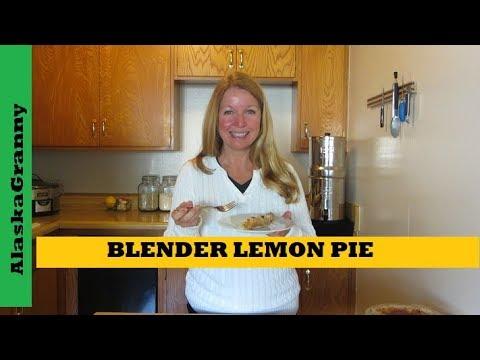 Lemon Pie In A Blender- Easy Recipe for Sunshine Lemon Pie