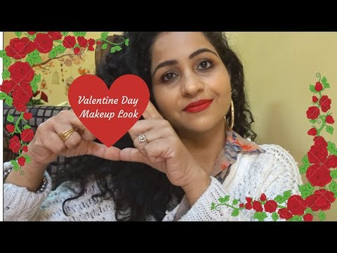 valentine-day-makeup-tutorial-2019-indian- -red-lipstick- -mac-ruby-woo