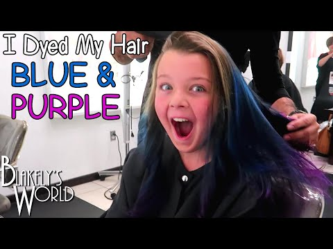 I Dyed My Hair Blue And Purple! | Blakely Bjerken
