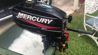 Test running my Mercury 3.3HP Outboard Motor
