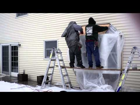 Installing a Wood Bay Window - Timelapse - Renewal by Andersen Long Island
