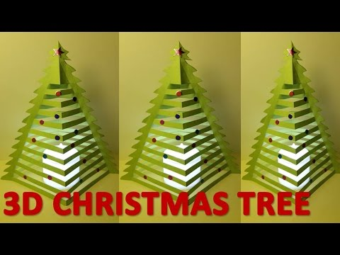 3d Paper Christmas Tree Template.How To Make 3d Christmas Trees 3d Paper Xmas Tree 3d Paper Christmas Tree