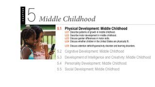1100 05.1 - Middle Childhood - Physical Development