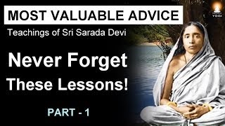 Most Valuable Advice for Spiritual Seekers - 1 (Never Forget These Lessons!)
