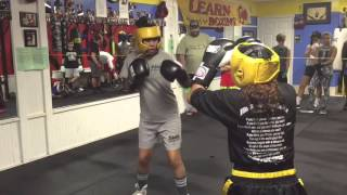 BrendA D first sparring session- Elite boxing Oviedo