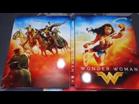 Wonder Woman 4k Blu Ray Collectible Steelbook Unboxing Best Buy Exclusive