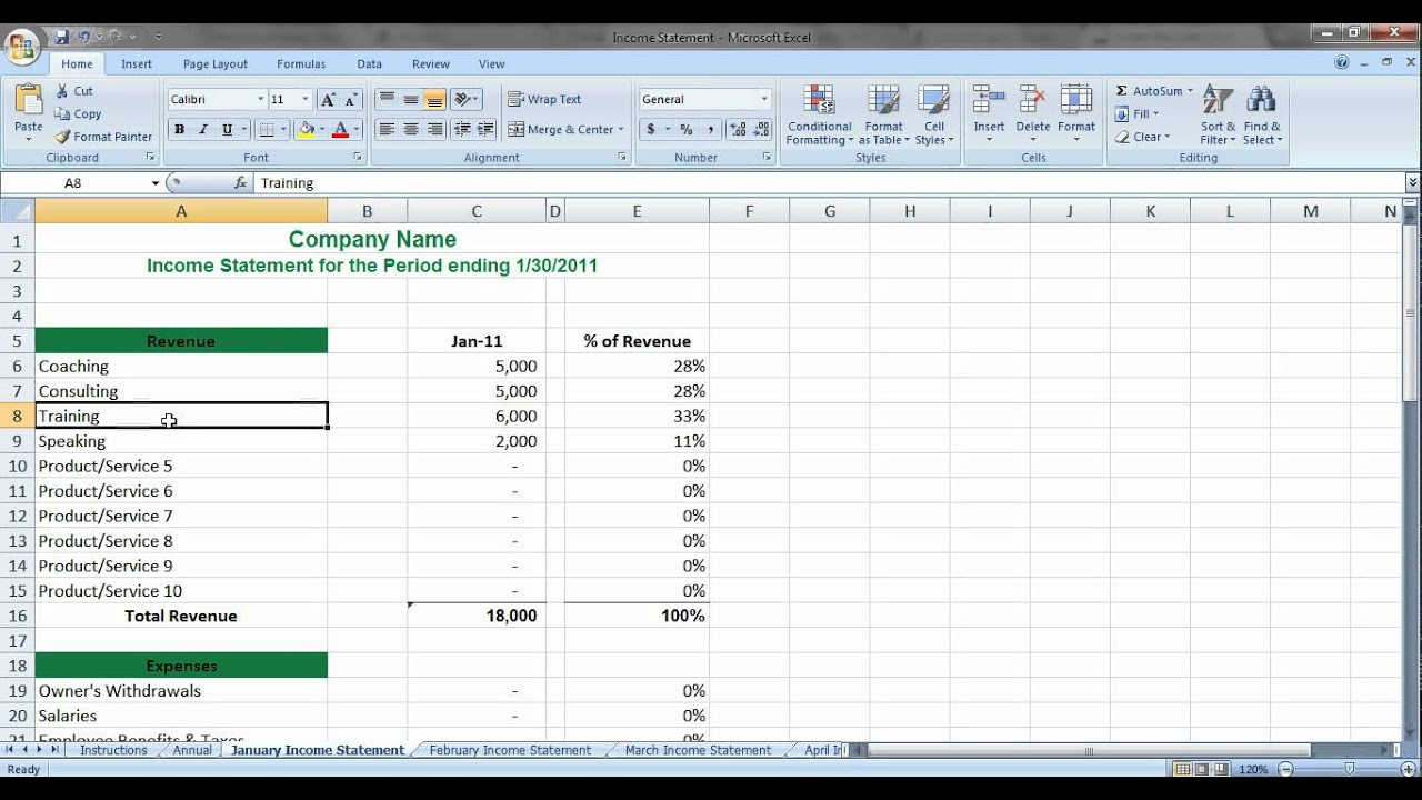 Simple Income Statement for Service Based Business Ownersavi – Income Statement Simple