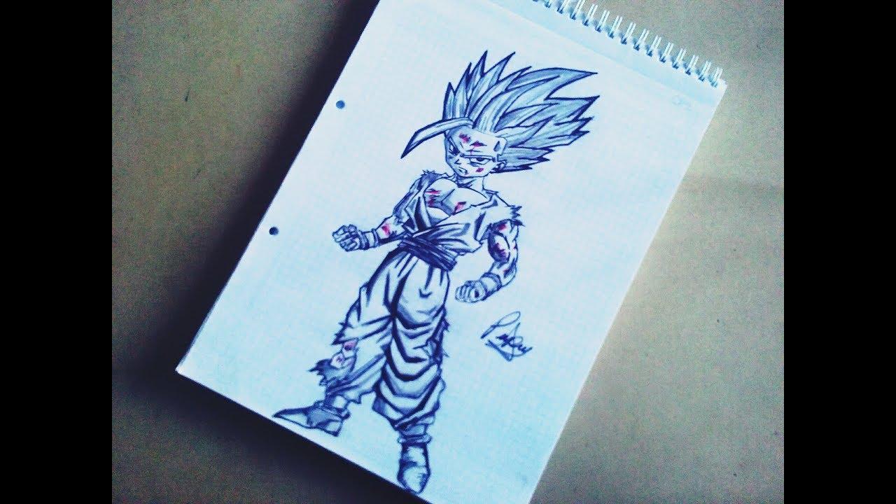 Dragon Ball Gogeta Cuerpo Completo Para Dibujar: Como Dibujar A JOHAN SSJ2 (CUERPO COMPLETO)_