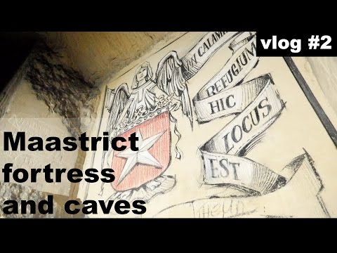 Tourist guide to Maastrict, Netherlands visiting Fort St. Pieter and North caves | vlog#1.2