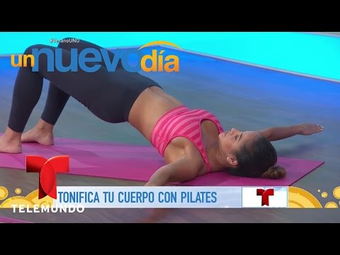 Tonifica tu cuerpo con estos ejercicios de pilates | Un Nuevo Día | Telemundo