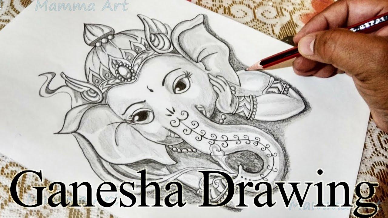 How To Draw Ganpati Bappa God Ganesha Drawing How To Draw Ganesh Ji Step By Step Youtube
