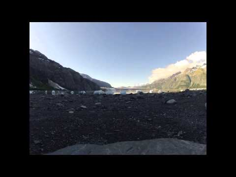Margerie Glacier intertidal zone timelapse