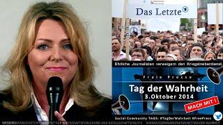 Eva Herman: Aufruf an alle Journalisten zum Tag der Wahrheit