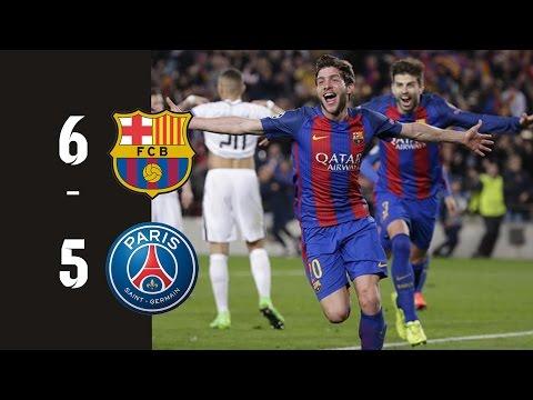 FC Barcelona vs PSG (Paris St-Germain) 6-5 All goals HD ● Feb 14 (0-4) & Mar 8 (6-1)