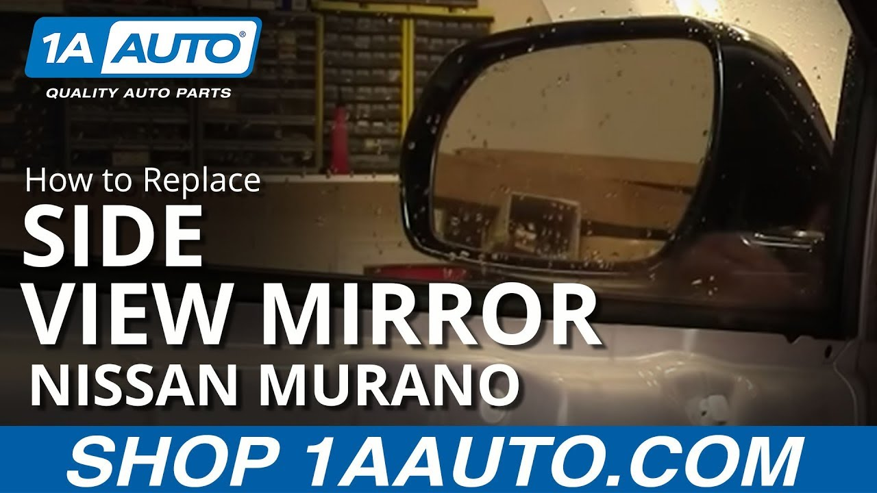 How To Replace Broken Side Rear View Mirror Nissan Murano 0307  YouTube