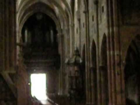 The Awe-Inspiring  Interior of the Gothic Church in Selestat