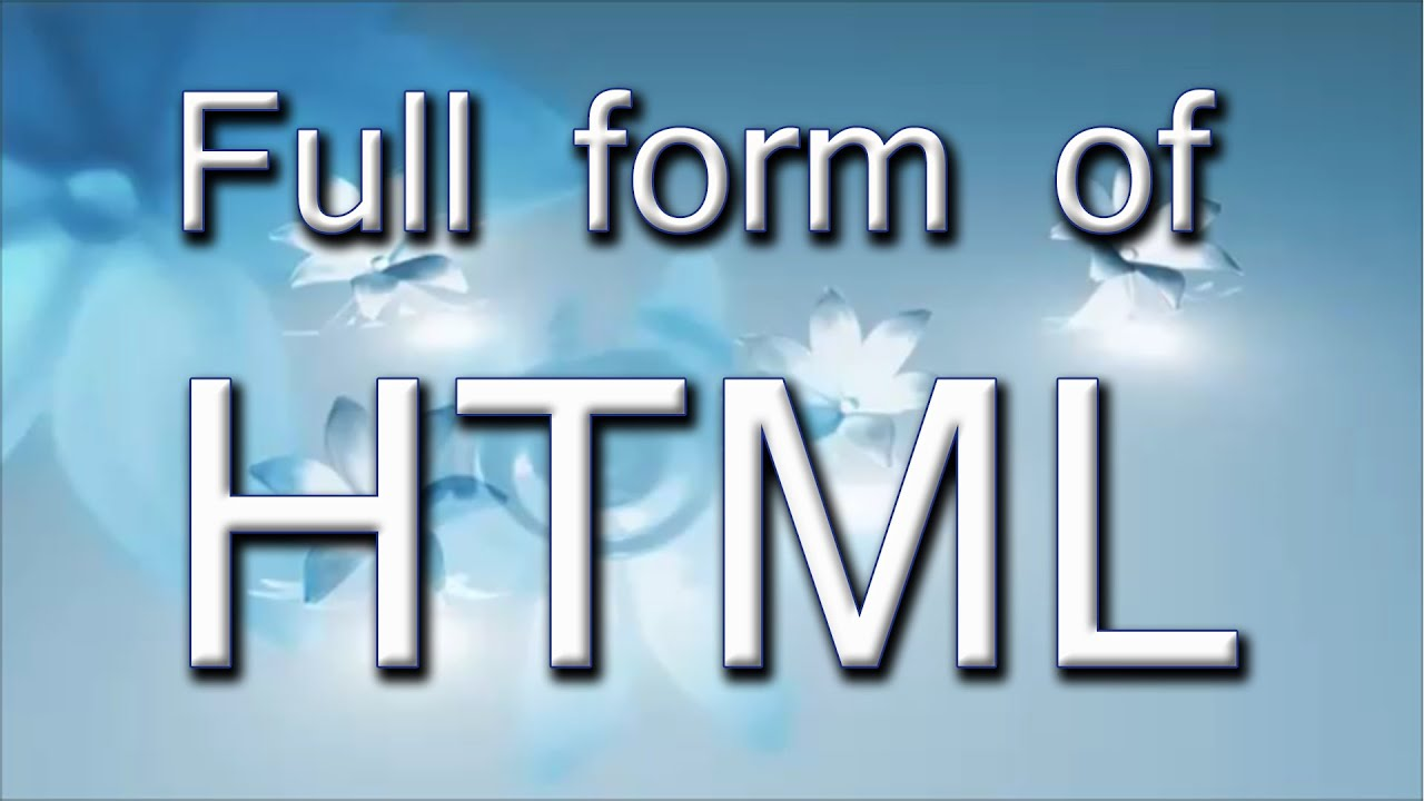 Image result for html full form