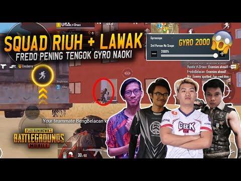 Riuh + Lawak!! Enemy Nak Pan Fredo | Naoki Ft. Fredo, Draxx & Beng | PUBG Mobile